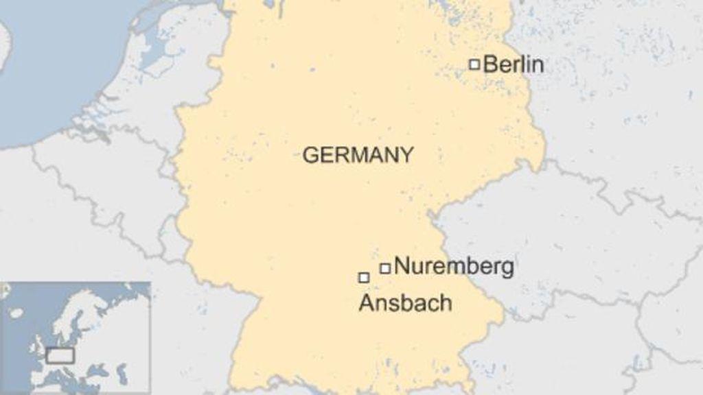 Ada Ledakan di Bar kota Ansbach Jerman, 1 Orang Tewas & 11 Luka