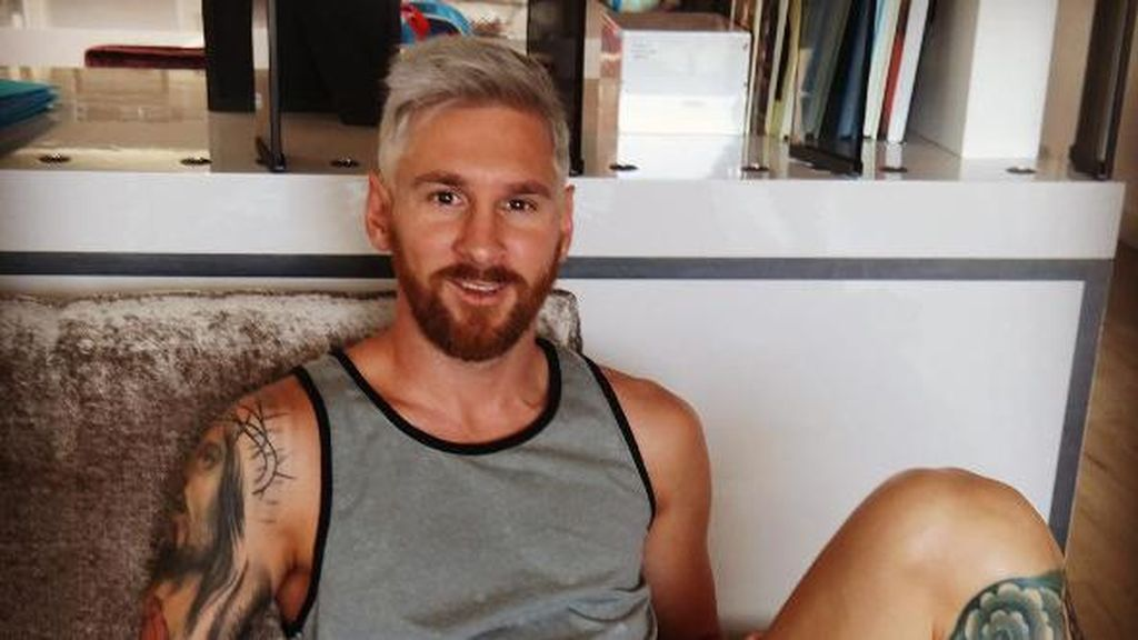 Rambut Blonde Messi