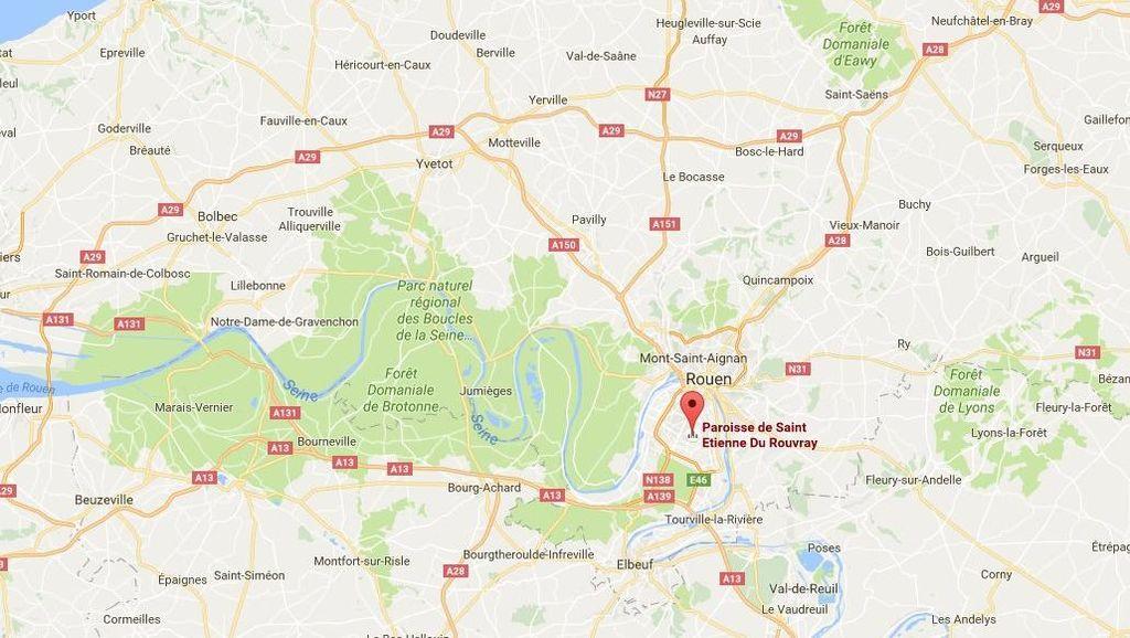 Dua Pria Bersenjata yang Sandera Pendeta di Gereja Prancis Ditembak