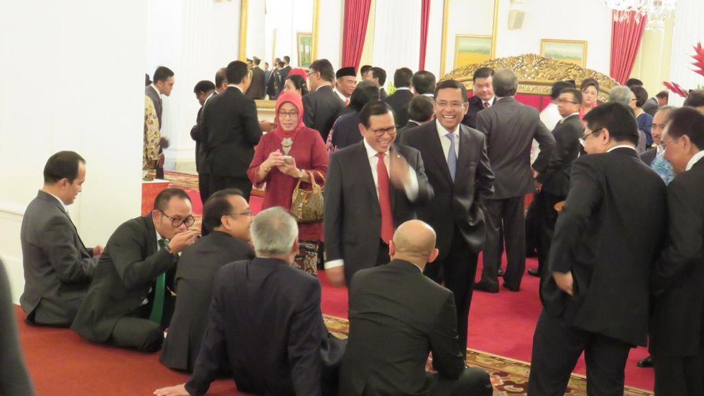 Hadiri Pelantikan Menteri, Saleh Husin: Saya Tetap Loyal ke Presiden