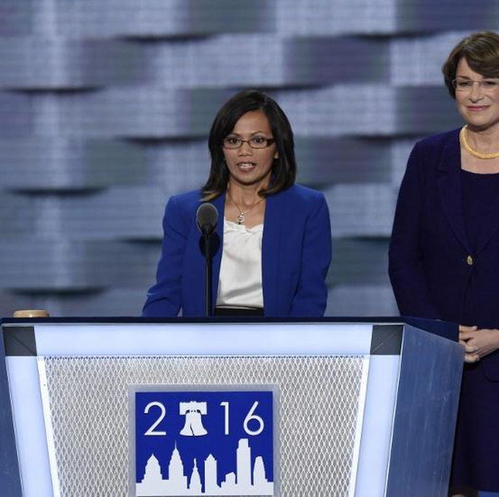 Ini Pidato Lengkap Survivor Human Trafficking Ima Matul di Konvensi Demokrat