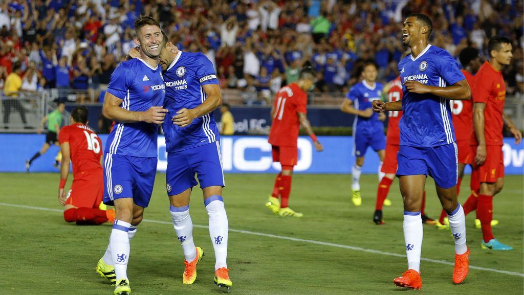 Kepala Cahill Bawa Chelsea Kalahkan Liverpool 1-0