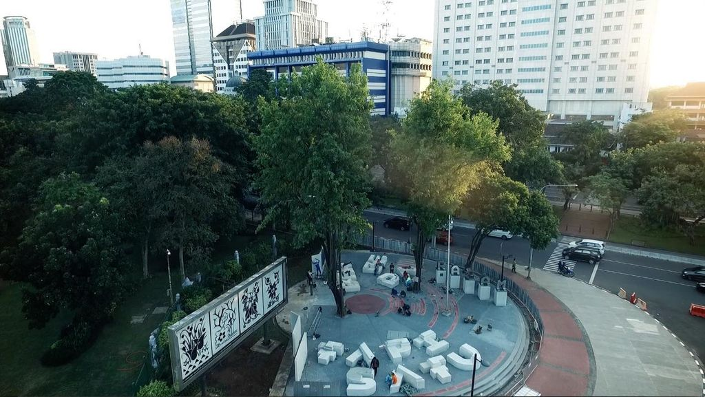 Puluhan Seniman Rayakan Peresmian Taman Pandang Istana di JakARTspirasi