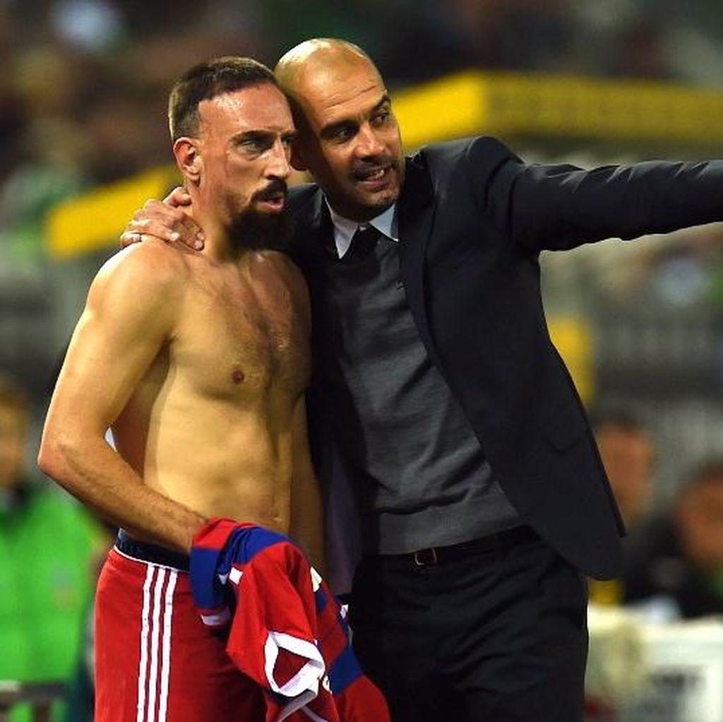 Dicibir Ribery, Guardiola Tetap Sayang