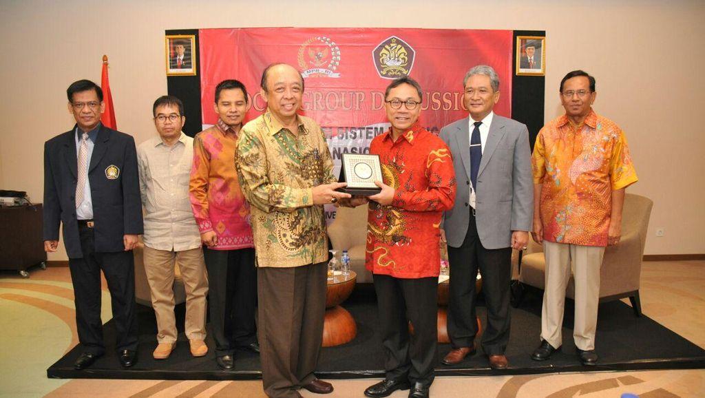 Ketua MPR Ajak Akademisi Sumbang Ide GBHN