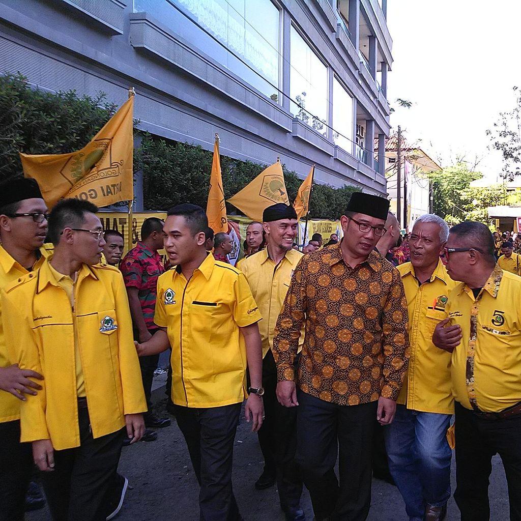 Ridwan Kamil Hadiri Musda Golkar Bandung, Bicara Parpol dan Pemimpin Baru