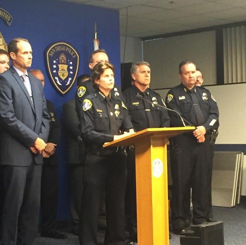 Polisi San Diego AS Tewas Ditembak Saat Berhenti di Lampu Merah