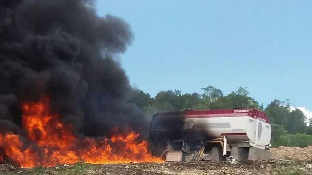 Demo Tolak Pabrik Semen di Pidie Rusuh, 1 Mobil dan Tangki Minyak Dibakar