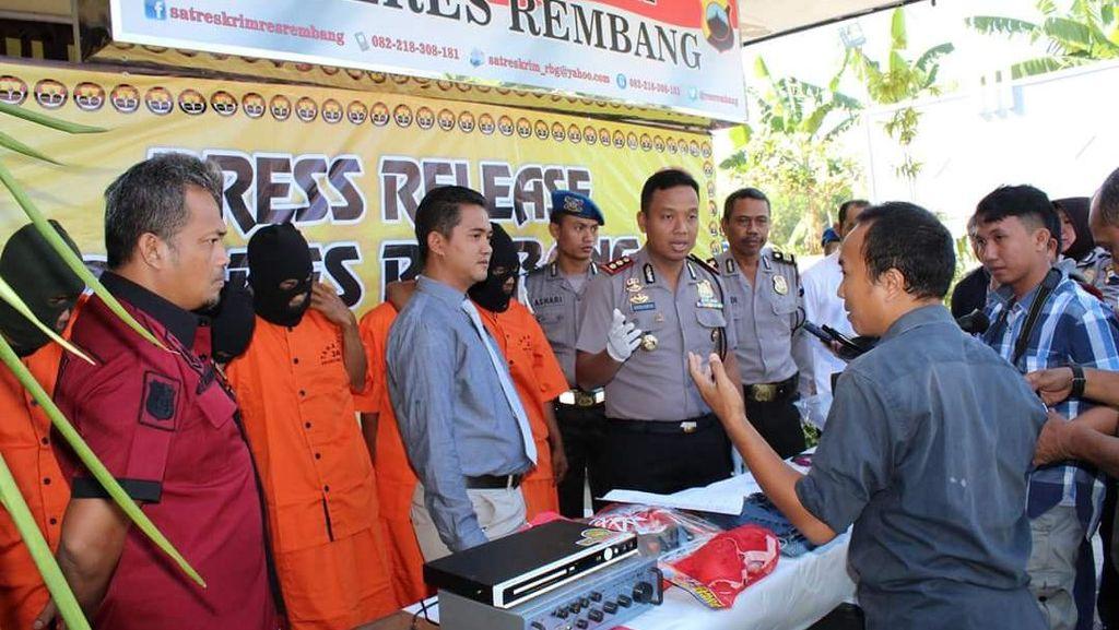 Geng Residivis Jatim-Jateng Dibekuk setelah Merampok dan Bunuh Korban di Rembang