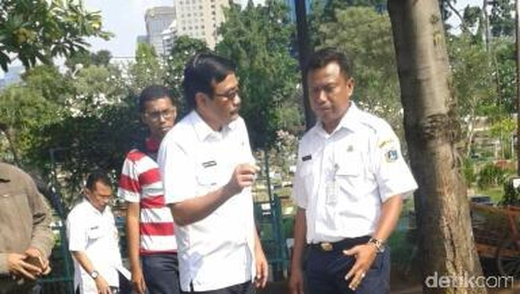 Wagub DKI Djarot ke 2 TPU di Karet, Turut Bongkar Makam Fiktif
