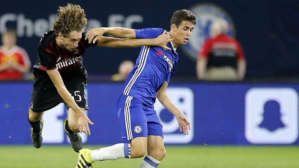 Oscar Dua Gol, Chelsea Kalahkan Milan 3-1