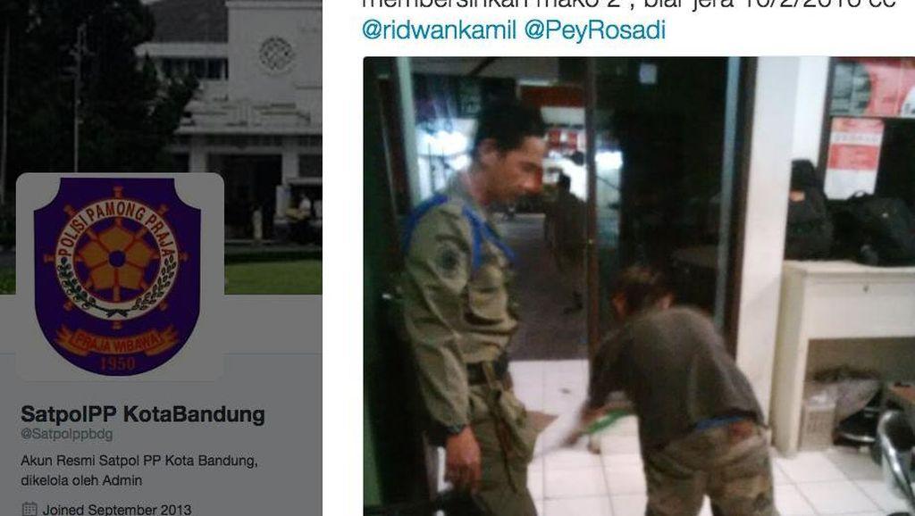 Cerita Pengemis Buntung Kaki yang Dihukum Cuci Markas Pol PP Bandung