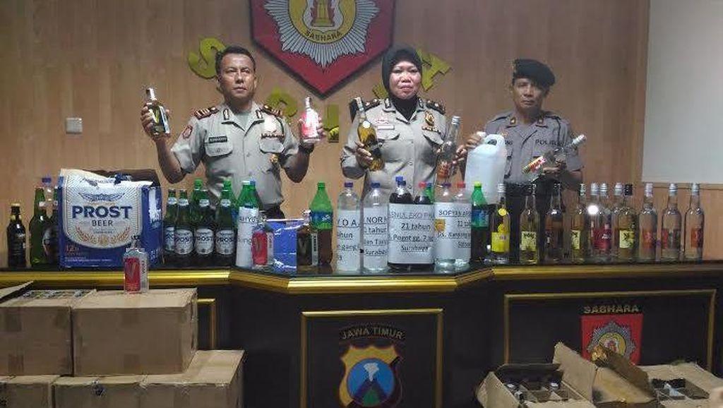 Seminggu Awal Agustus, Polisi Sita Ribuan Botol Miras Tak Berizin