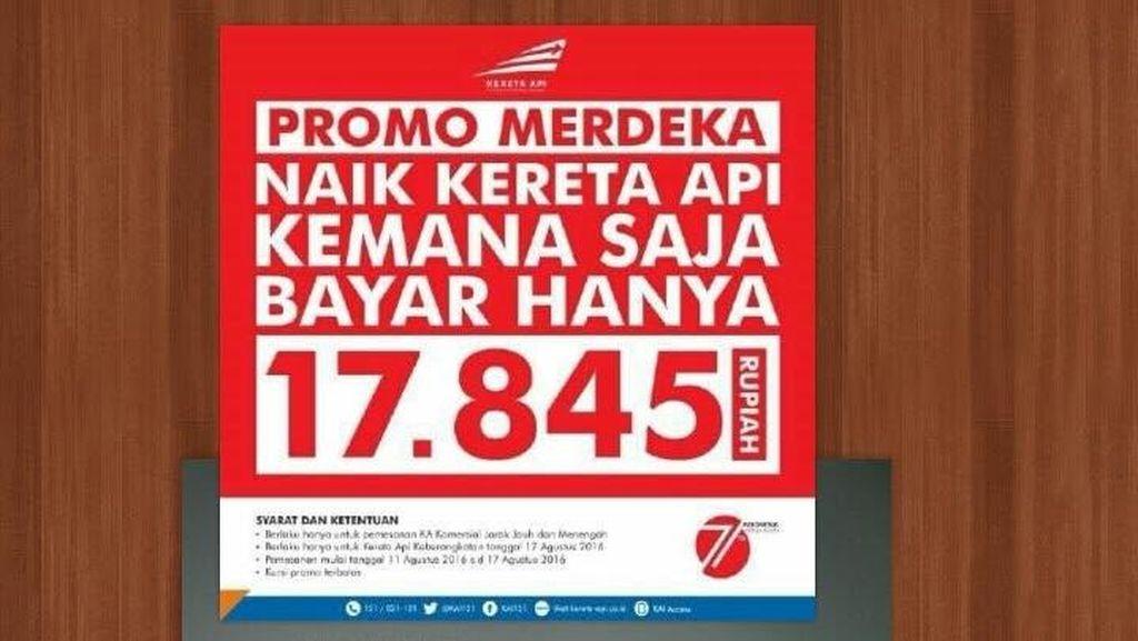 Obral Tiket PT KAI Rp 17 Ribu Sambut Hari Kemerdekaan Laris Manis