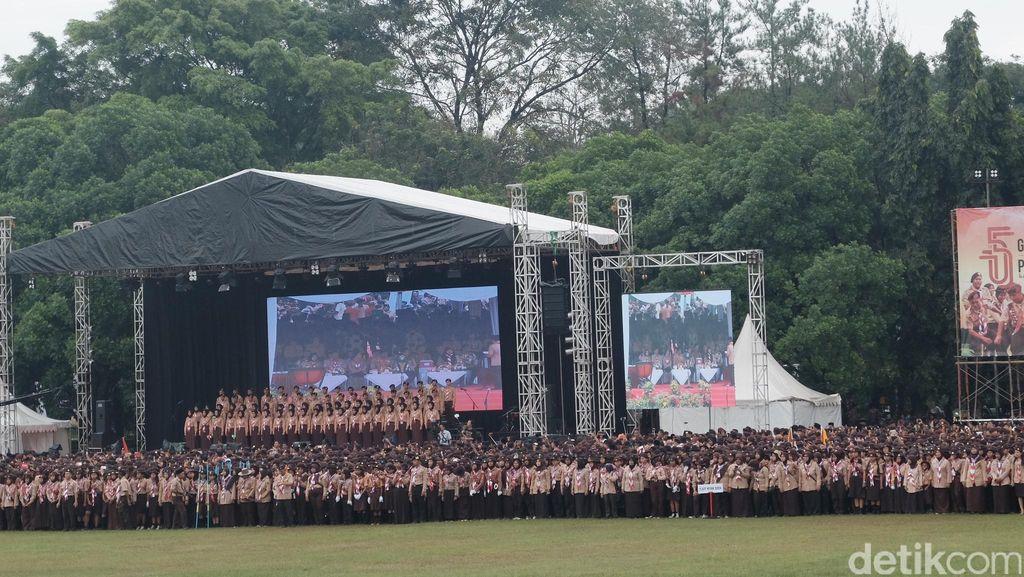 Buka Jambore Nasional, Jokowi: Sebarkan Semangat Pramuka Lewat Medsos