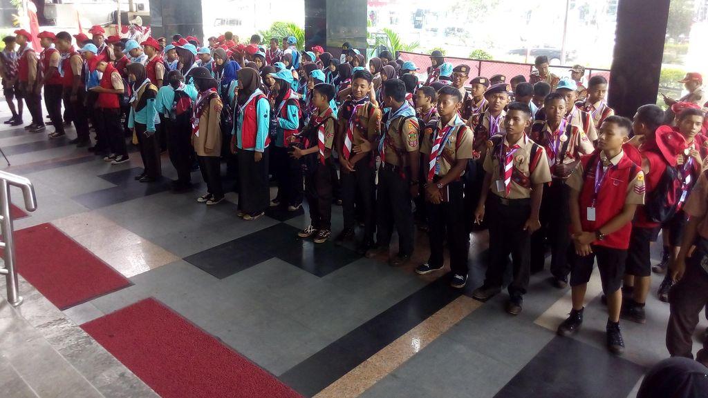 Peserta Jambore Nasional Pramuka Sambangi KPK, Tanamkan Nilai Anti Korupsi