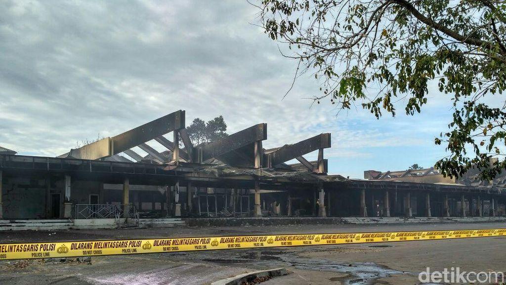 Ini Kondisi Bekas Terminal Sultan Hasanuddin yang Dilalap Api