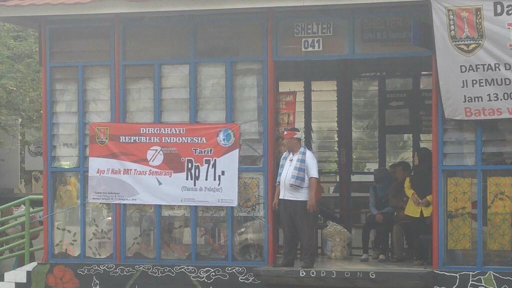 HUT RI, Tiket Bus Trans Semarang cuma Rp 71