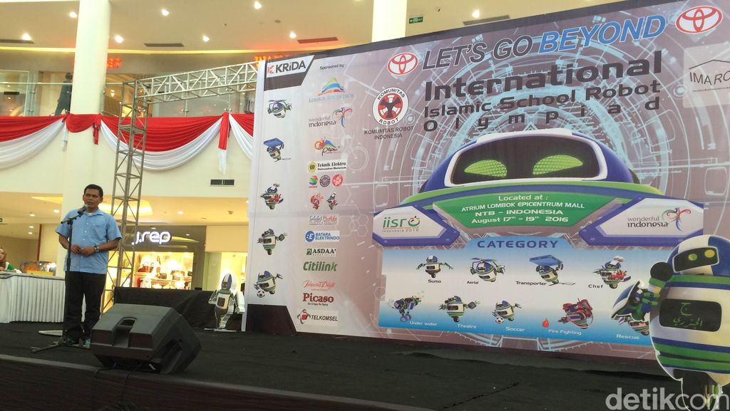 Olimpiade Robot Internasional Meramaikan Pra Pembukaan Bulan Budaya Lombok