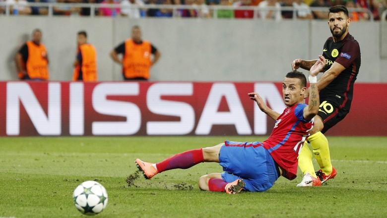Hattrick Aguero Antar Mancity Libas Steaua 5-0