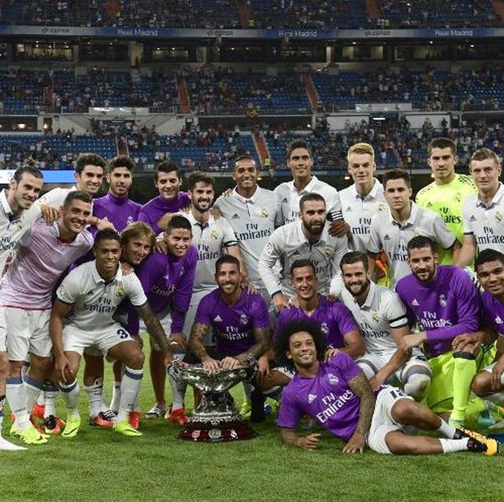 Madrid Kalahkan Reims 5-3 untuk Menangi Trofeo Santiago Bernabeu