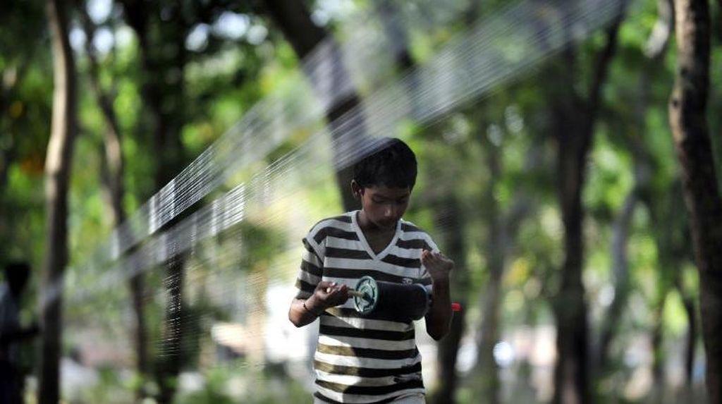 2 Balita dan Satu Pria Tewas Tersayat Benang Layang-layang di India