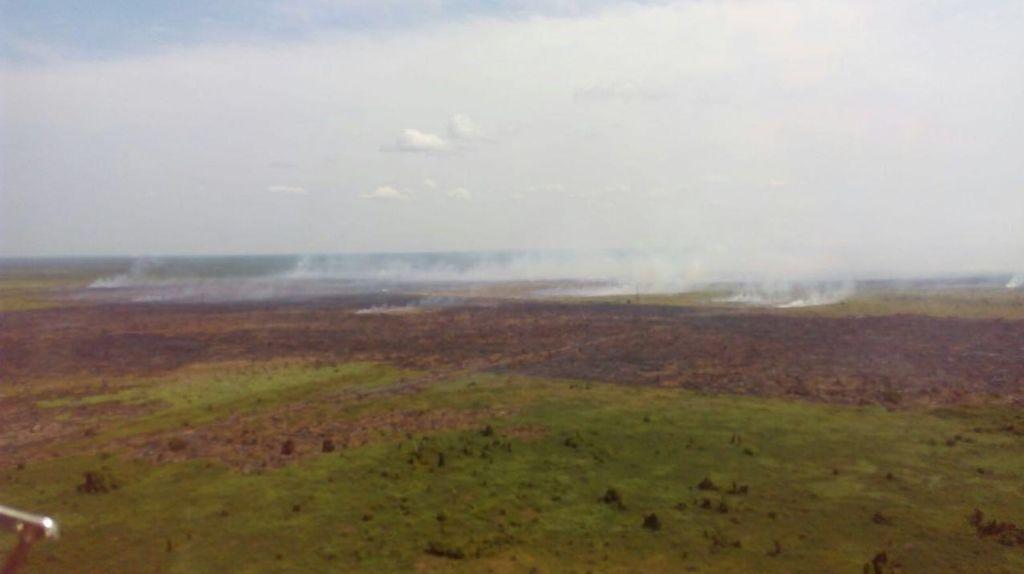 Langit Dumai Riau Dikepung Asap Kebakaran Lahan