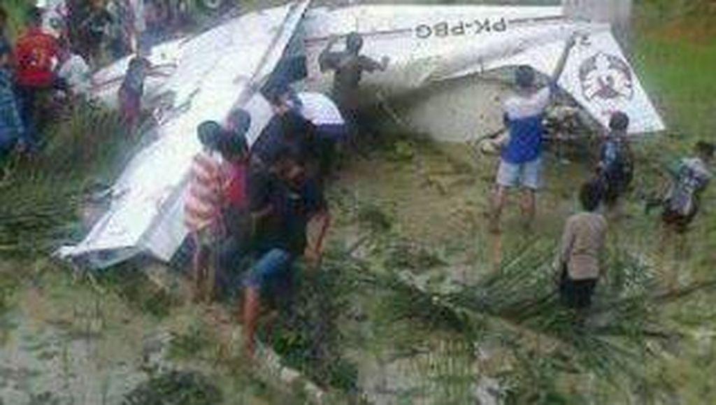 3 Awak Pesawat yang Kecelakaan di Sawah Tasikmalaya Dibawa ke RS Jakarta