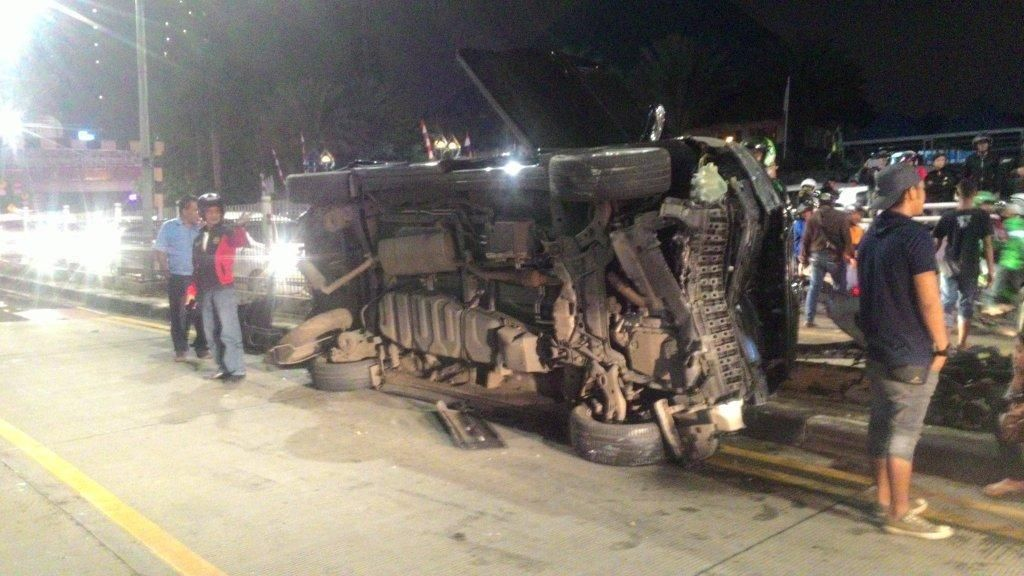Kecelakaan di Underpass Pondok Indah, Alphard Ringsek