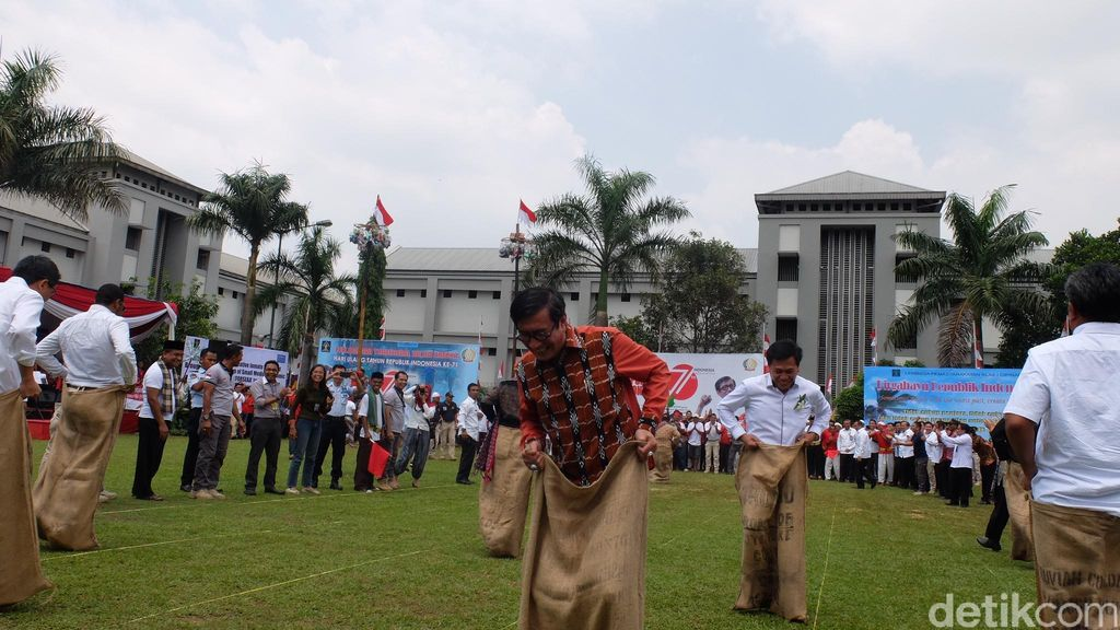 Saat Menteri Yasonna dan Dubes Asing Berlomba Bersama Napi di LP Cipinang