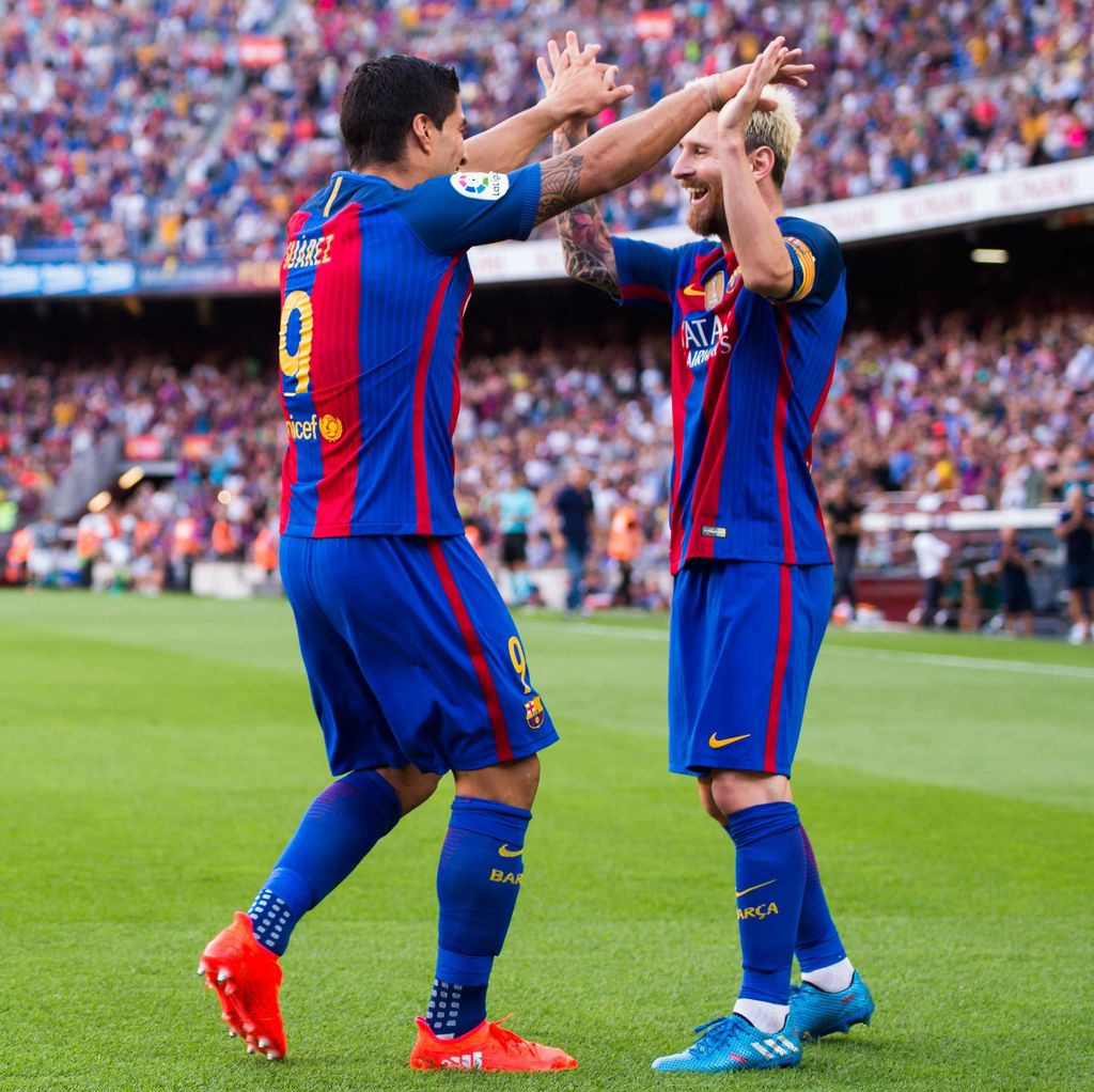 Langsung Cetak Hat-trick, Suarez Justru Lempar Pujian ke Messi