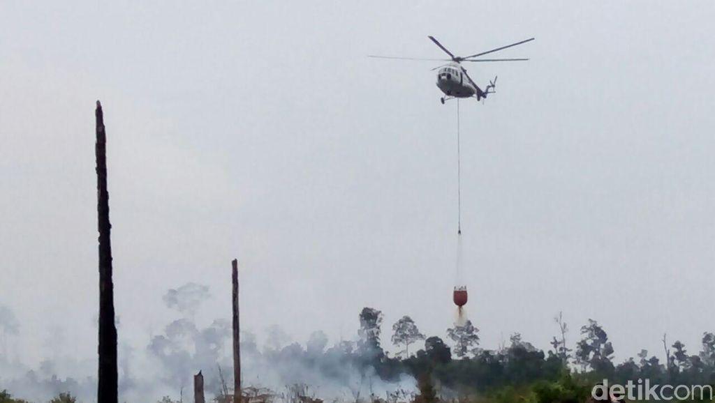 Satgas Karhutla Apresiasi Bantuan Heli Perusahaan untuk Padamkan Kebakaran