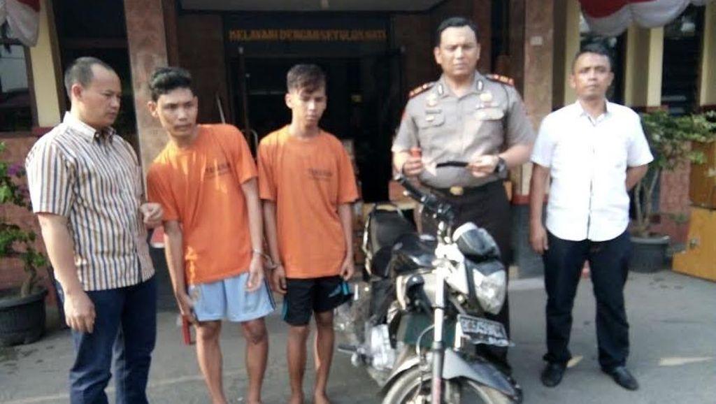2 Pemuda di Medan ini Nekat Begal Motor Anggota Polisi