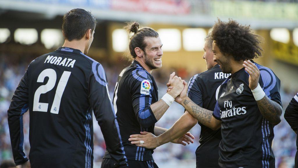 Bale Dua Gol, Madrid Taklukkan Sociedad 3-0