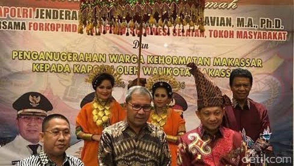 Kapolri Jadi Warga Kehormatan Kota Makassar
