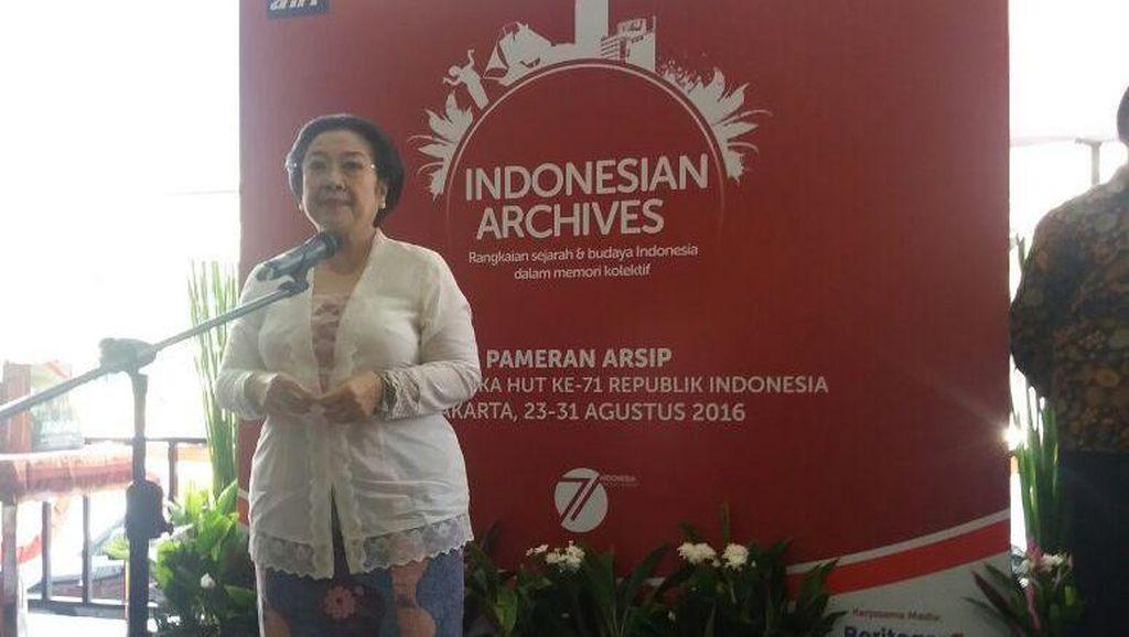Megawati di Pameran Arsip Nasional: Tanpa Arsip Kita Tak akan Tahu Siapa Kita