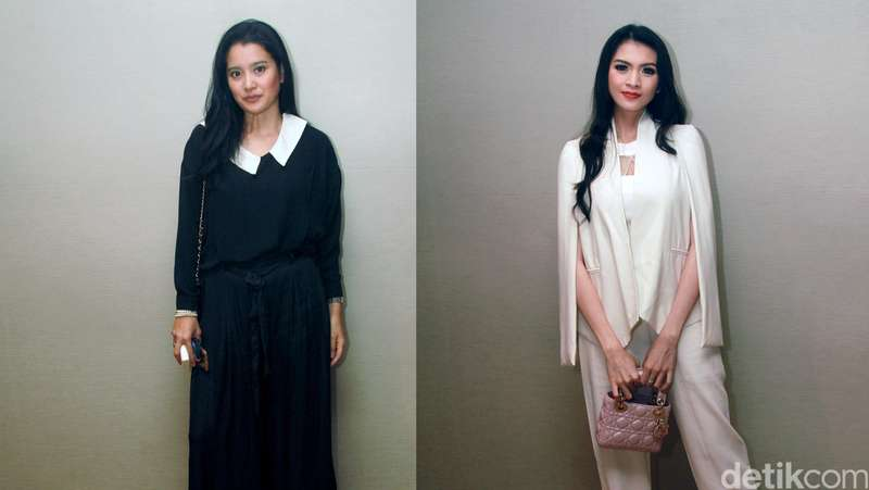 Black vs White! Gaya Marcella Zalianty dan Donita