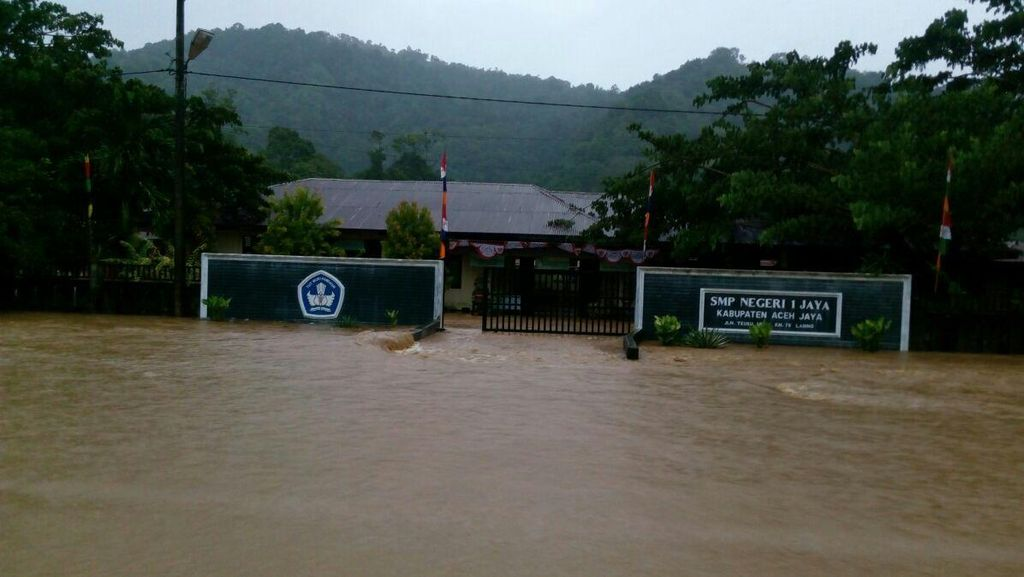 9 Kecamatan di Aceh Jaya Terendam Banjir setelah Hujan Deras, ini Penampakannya