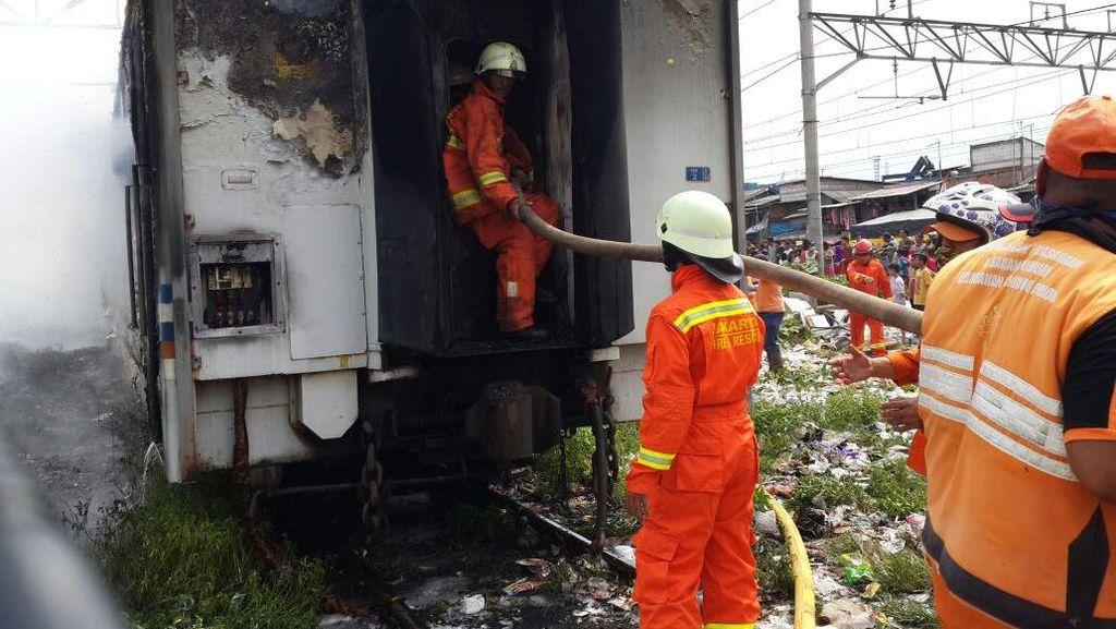 Penyebab Kereta Kertajaya Terbakar di Tanjung Priok Diduga Korsleting Listrik