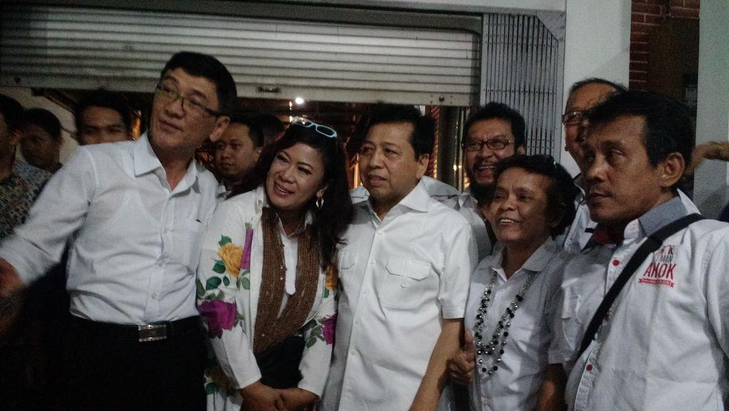 Datang ke Posko Pemenangan Ahok, Setya Novanto Sumbang Rp 100 Juta