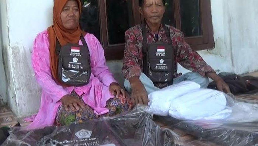 Pasutri Berprofesi Tukang Becak Naik Haji Setelah Menabung 20 Tahun