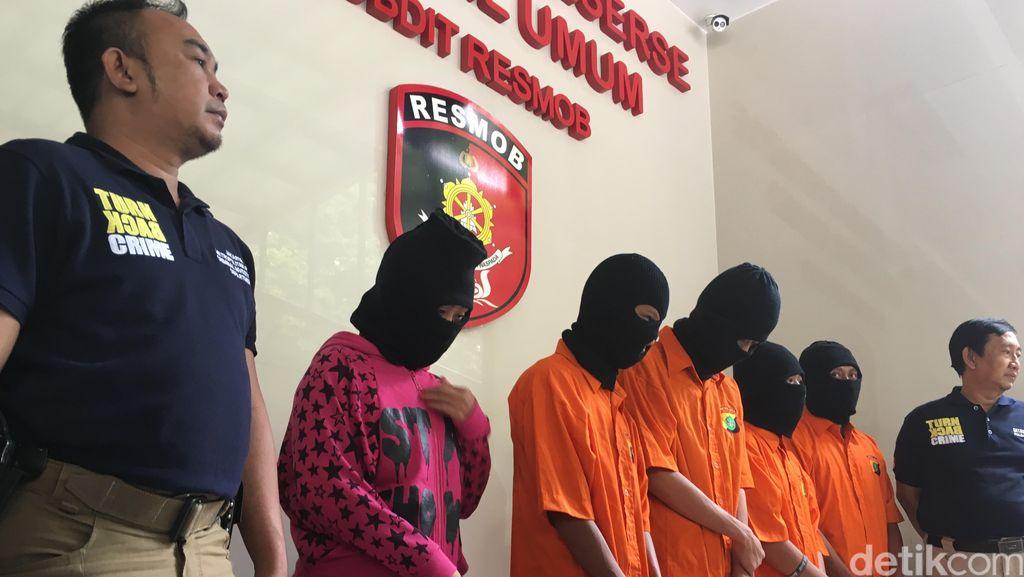 Ditangkap Polisi, Wanita Penadah Motor Curian Ini Menangis Sesenggukan