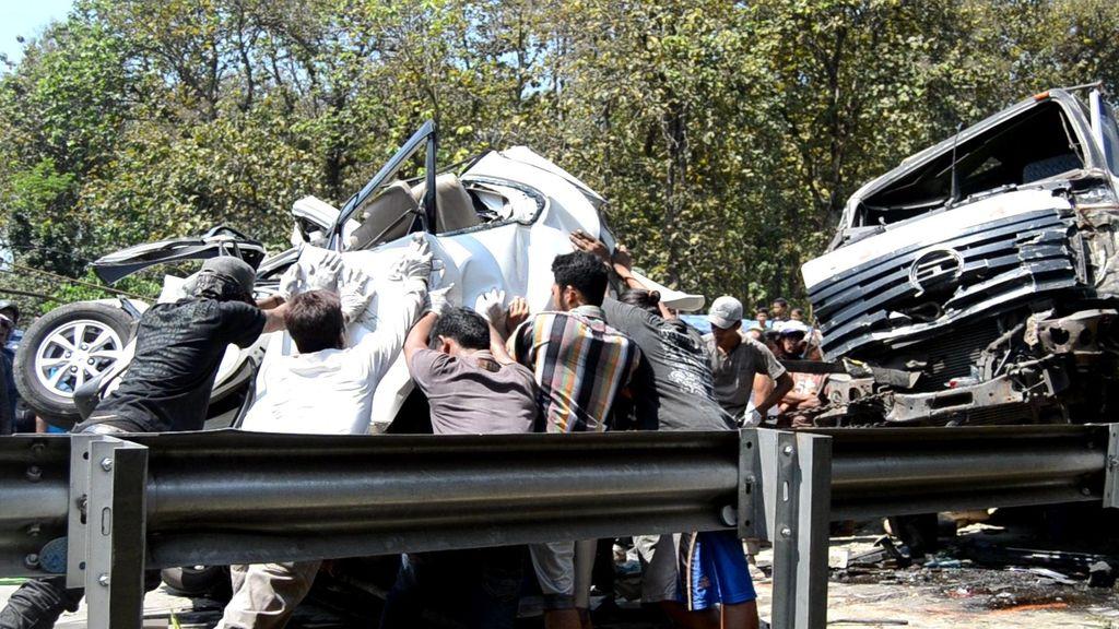 Kecelakaan Beruntun 5 Mobil dan Sepeda Motor di Alas Roban, 4 Orang Tewas