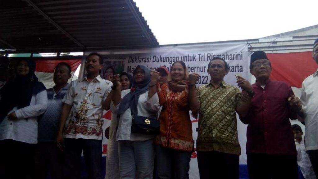 Warga Kembangan Deklarasi Dukung Risma Maju Pilgub DKI