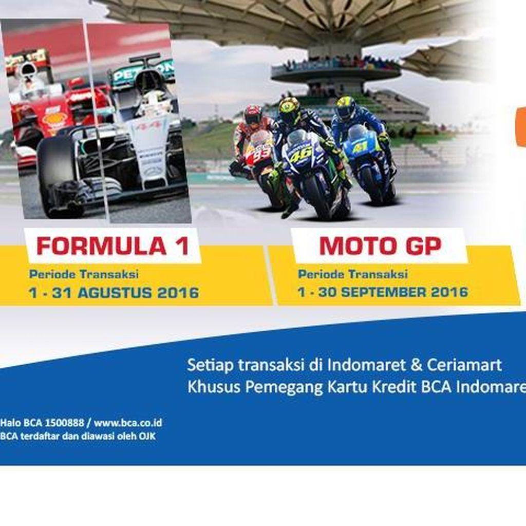 Gratis Nonton Moto GP & Formula 1 di Sepang Bersama BCA dan Indomaret
