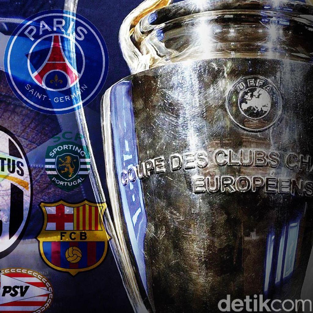 Hasil Drawing Babak 32 Besar Liga Champions