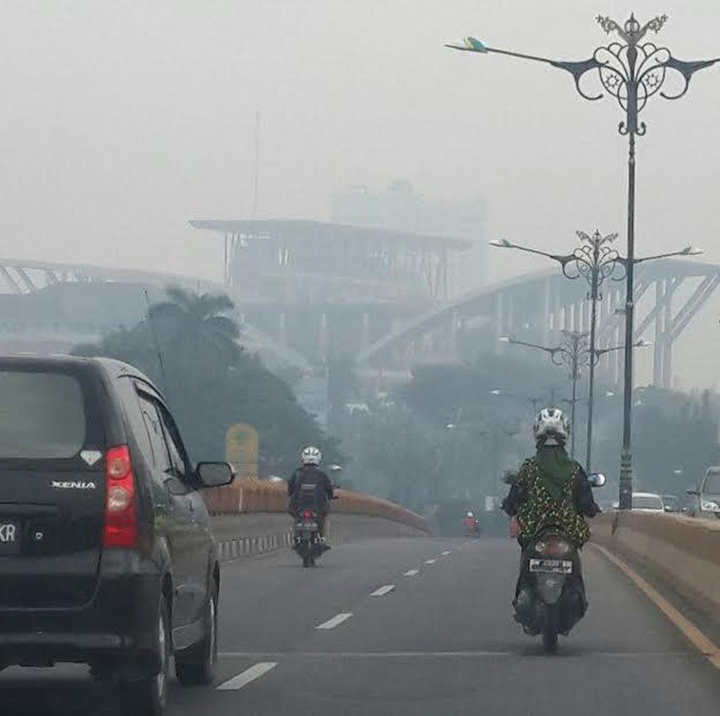 Pak Jokowi, Jarak Pandang di Pekanbaru Kian Buruk karena Asap