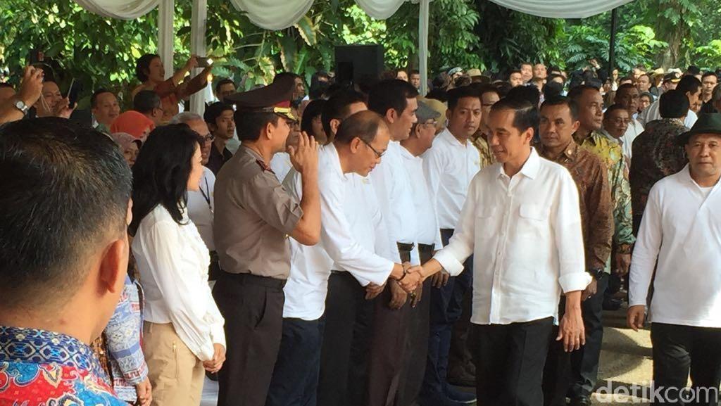 Jokowi Hadiri Kontes Domba Garut di Bogor