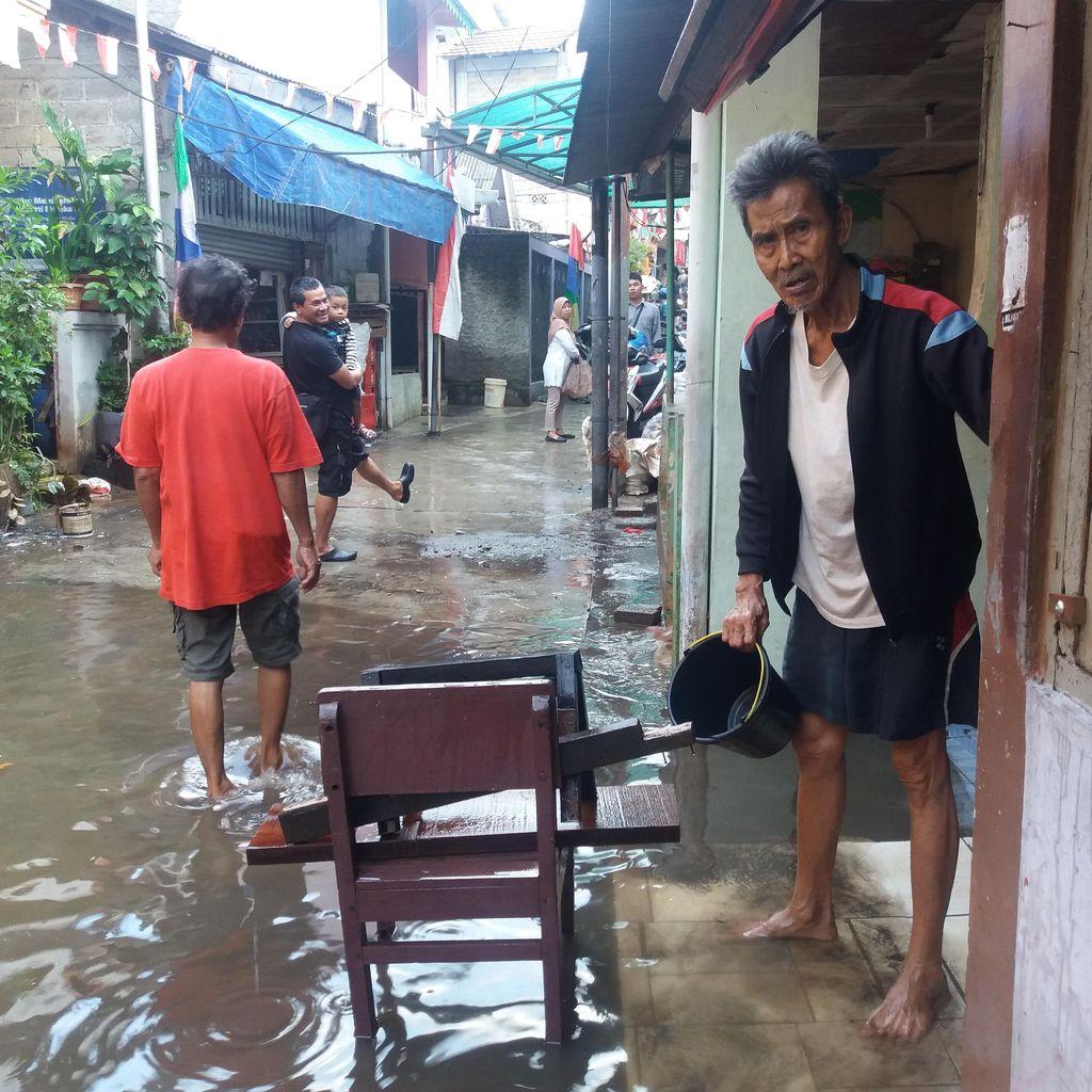Banjir di Petogogan Kebayoran Baru Terparah dalam Setahun Terakhir