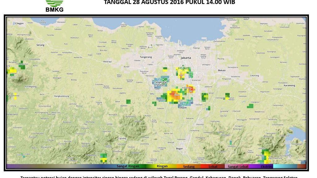 Ini Wilayah DKI dan Sekitarnya yang Berpotensi Diguyur Hujan Lebat Hari Ini
